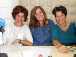 Gemma Sangerman-, Elena Cots y Núria de Calella
